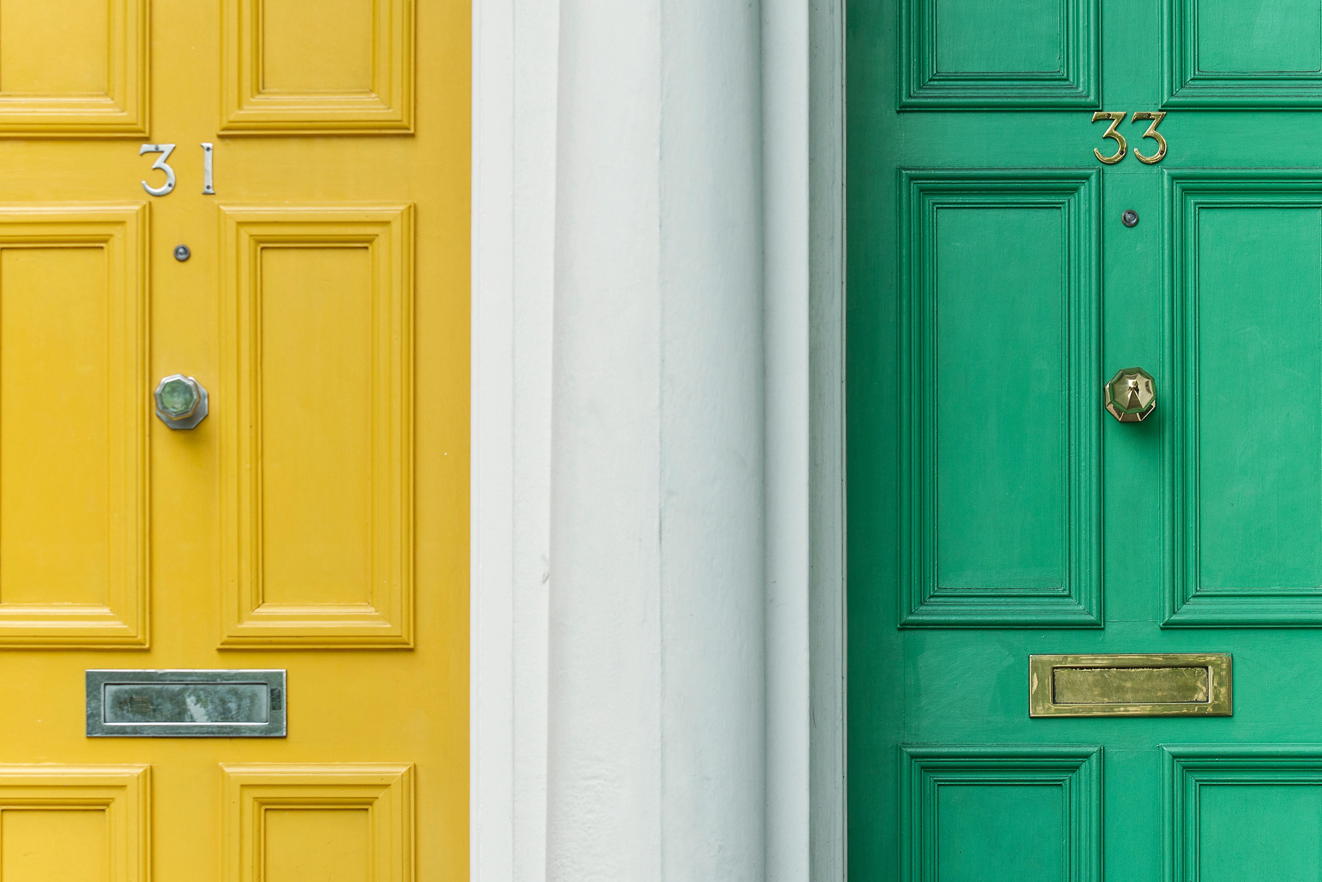 Porte colorate a Londra
