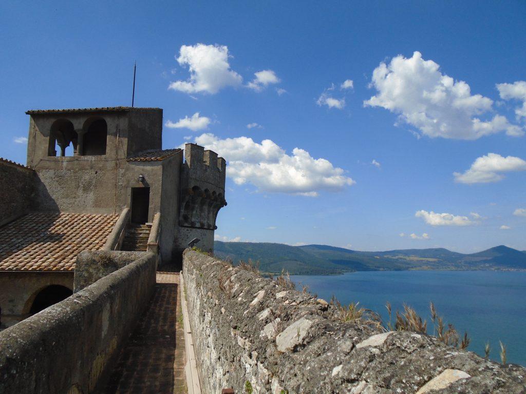 camminamento di ronda nel Castello Odescalchi di Bracciano