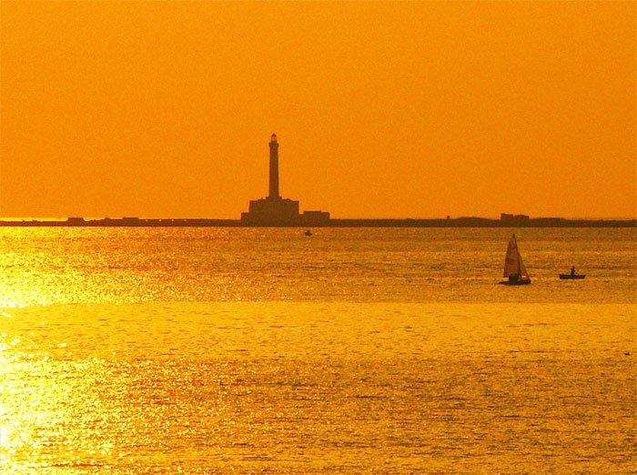 L'Isola di Sant'Andrea al tramonto